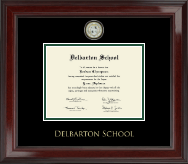 Delbarton High School in New Jersey Diploma Frame - Masterpiece Medallion Diploma Frame in Encore