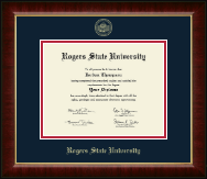 Rogers State University Diploma Frame - Gold Embossed Diploma Frame in Murano