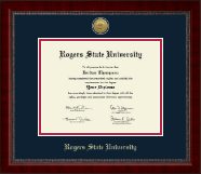 Rogers State University Diploma Frame - Gold Engraved Medallion Diploma Frame in Sutton
