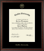 Claflin University Diploma Frame - Gold Embossed Diploma Frame in Studio