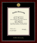 Claflin University Diploma Frame - Gold Engraved Medallion Diploma Frame in Sutton