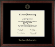 Carlow University Diploma Frame - Gold Embossed Diploma Frame in Studio