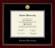 Carlow University Diploma Frame - Gold Engraved Medallion Diploma Frame in Sutton