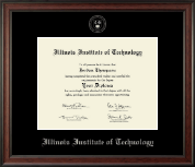 Illinois Institute of Technology Diploma Frame - Silver Embossed Diploma Frame in Studio