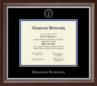 Chaminade University Diploma Frame - Silver Embossed Diploma Frame in Devonshire