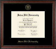 Seton Hill University Diploma Frame - Gold Embossed Diploma Frame in Studio