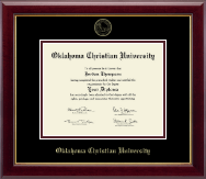 Oklahoma Christian University Diploma Frame - Gold Embossed Diploma Frame in Gallery