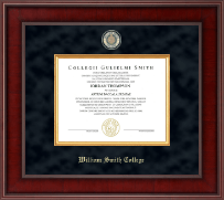 William Smith College Diploma Frame - Presidential Masterpiece Diploma Frame in Jefferson