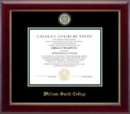 William Smith College Diploma Frame - Masterpiece Medallion Diploma Frame in Gallery