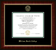 William Smith College Diploma Frame - Gold Embossed Diploma Frame in Murano