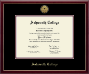 Ashworth College Diploma Frame - Gold Engraved Medallion Diploma Frame in Galleria