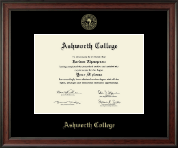 Ashworth College Diploma Frame - Gold Embossed Diploma Frame in Studio