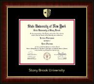 Stony Brook University Diploma Frame - Gold Embossed Diploma Frame in Murano