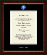 State of Ohio Certificate Frame - Masterpiece Medallion Certificate Frame in Murano