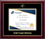 Gold Coast Schools Certificate Frame - Gold Embossed Certificate Frame in Gallery