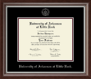 University of Arkansas at Little Rock Diploma Frame - Silver Embossed Diploma Frame in Devonshire