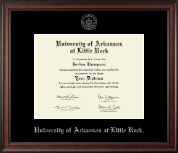 University of Arkansas at Little Rock Diploma Frame - Silver Embossed Diploma Frame in Studio