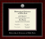 University of Arkansas at Little Rock Diploma Frame - Silver Engraved Medallion Diploma Frame in Sutton
