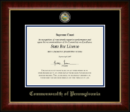 Commonwealth of Pennsylvania Diploma Frame - Masterpiece Medallion Diploma Frame in Murano
