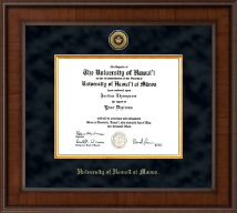 University of Hawaii at Manoa Diploma Frame - Presidential Gold Engraved Diploma Frame in Madison