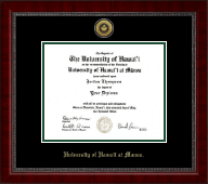 University of Hawaii at Manoa Diploma Frame - Gold Engraved Medallion Diploma Frame in Sutton