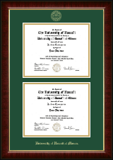 University of Hawaii at Manoa Diploma Frame - Double Diploma Frame in Murano