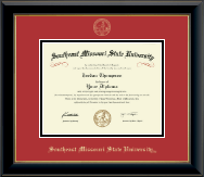 Southeast Missouri State University Diploma Frame - Gold Embossed Diploma Frame in Onyx Gold