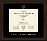 University of Minnesota Duluth Diploma Frame - Gold Embossed Diploma Frame in Lenox