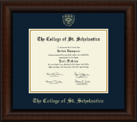 The College of St. Scholastica Diploma Frame - Gold Embossed Diploma Frame in Lenox