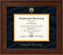 Cumberland University Diploma Frame - Presidential Gold Engraved Diploma Frame in Madison