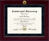Cumberland University Diploma Frame - Millennium Gold Engraved Diploma Frame in Cordova
