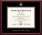 Cumberland University Diploma Frame - Gold Embossed Diploma Frame in Galleria
