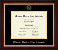Missouri Western State University Diploma Frame - Gold Embossed Diploma Frame in Murano