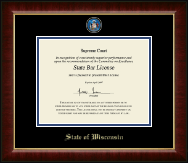 State of Wisconsin Certificate Frame - Masterpiece Medallion Certificate Frame in Murano