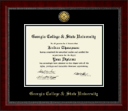 Georgia College & State University Diploma Frame - Gold Engraved Medallion Diploma Frame in Sutton