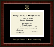 Georgia College & State University Diploma Frame - Gold Embossed Diploma Frame in Murano