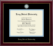 Long Island University Post Diploma Frame - Masterpiece Medallion Diploma Frame in Gallery