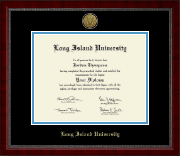 Long Island University Post Diploma Frame - Gold Engraved Medallion Diploma Frame in Sutton
