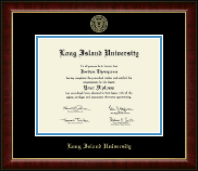 Long Island University Post Diploma Frame - Gold Embossed Diploma Frame in Murano