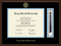Long Island University Post Diploma Frame - Tassel Edition Diploma Frame in Delta