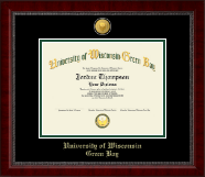 University of Wisconsin Green Bay Diploma Frame - 23K Medallion Diploma Frame in Sutton