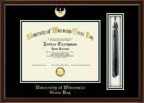 University of Wisconsin Green Bay Diploma Frame - Tassel Edition Diploma Frame in Delta