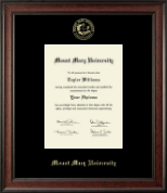 Mount Mary University Diploma Frame - Gold Embossed Diploma Frame in Studio