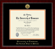 The University of Tennessee Knoxville Diploma Frame - Gold Engraved Medallion Diploma Frame in Sutton