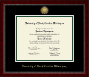 University of North Carolina Wilmington Diploma Frame - Gold Engraved Medallion Diploma Frame in Sutton
