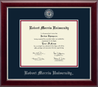 Robert Morris University in Pennsylvania Diploma Frame - Masterpiece Medallion Diploma Frame in Gallery Silver