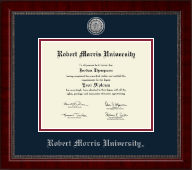 Robert Morris University in Pennsylvania Diploma Frame - Silver Engraved Medallion Diploma Frame in Sutton