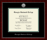 Georgia Gwinnett College Diploma Frame - Silver Engraved Medallion Diploma Frame in Sutton