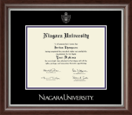 Niagara University Diploma Frame - Silver Embossed Diploma Frame in Devonshire