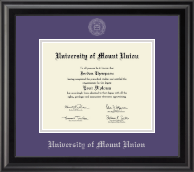 University of Mount Union Diploma Frame - Silver Embossed Diploma Frame in Midnight